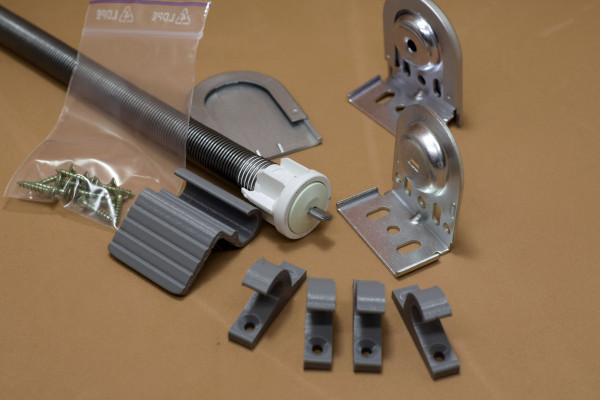 Mechanism for attic rollers 24 mm